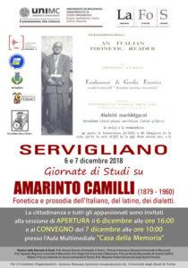 Giornate di studi su Amarinto Camilli